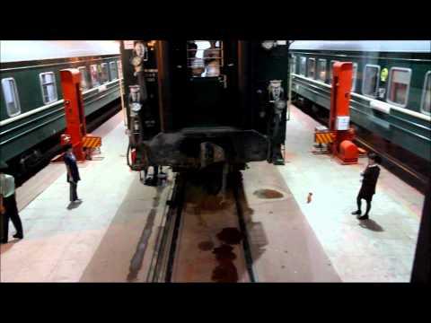 Train bogie changing on the Trans-Mongolian Railway