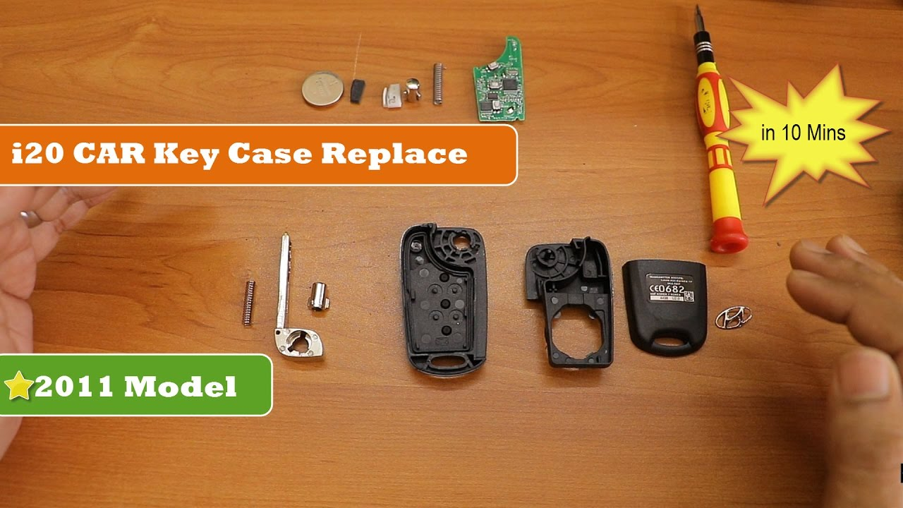 How To Replace Hyundai I20 Car Key Case Quick And Easy Way Youtube