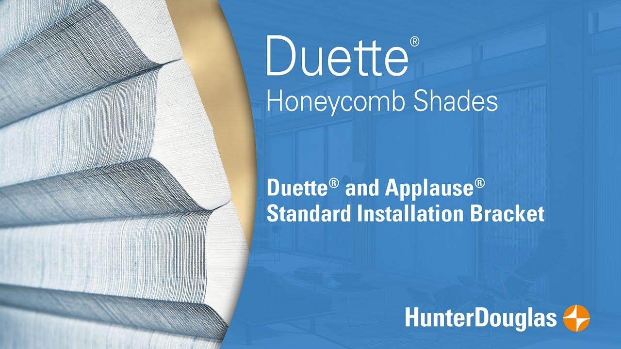 Duette Honeycomb Shades Standard Installation Bracket Hunter Douglas Youtube