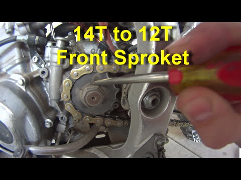 Replacing Front Sprocket on Dirt Bike for more Torque and HP