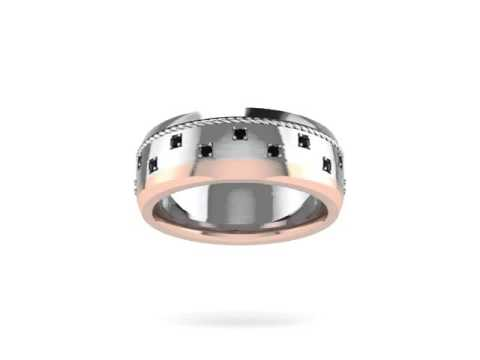 Custom Mixed-Metal Band from Mitchum Jewelers -- Demo Video