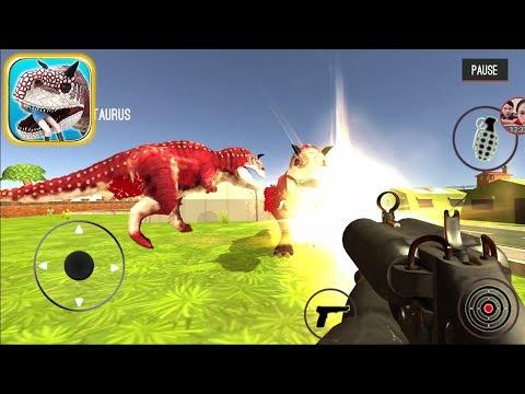 Dinosaur Hunter Dino City 2017 (Mod Money): Kill Carnotaurus – Android Gameplay