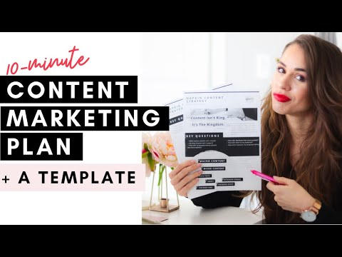 Create A Content Marketing Plan for 2020 In 10 Minutes [My Napkin Strategy]