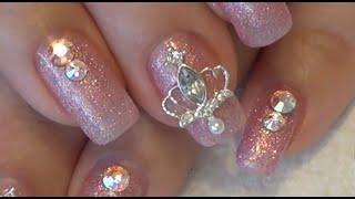 Pink Princess Gel Polish Nails Design | DIY | Tutorial | Beanana711