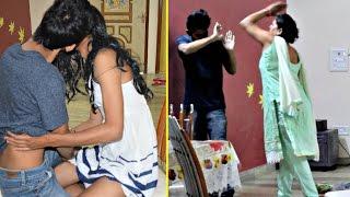 Kissing Girlfriend Prank On MOM (Gone Wrong)   AVRprankTV (Pranks in India)