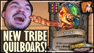 VEGAN TRIES BACON! (QUILBOARS!) - Hearthstone Battlegrounds
