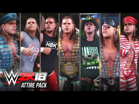 WWE 2K18 Most Awesome Shawn Michaels Attire Pack You Can Download Career Best