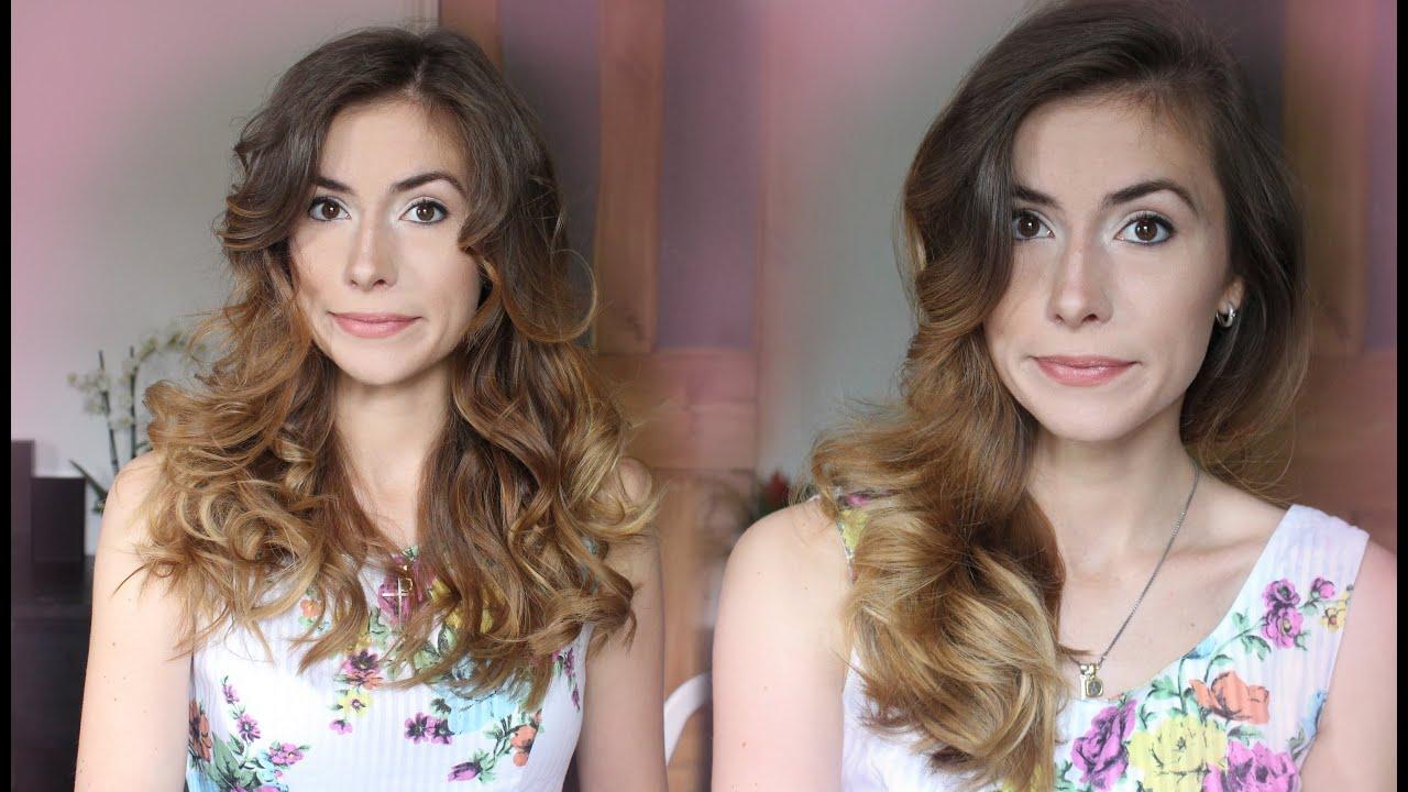 крутить волосы на утюжок видео