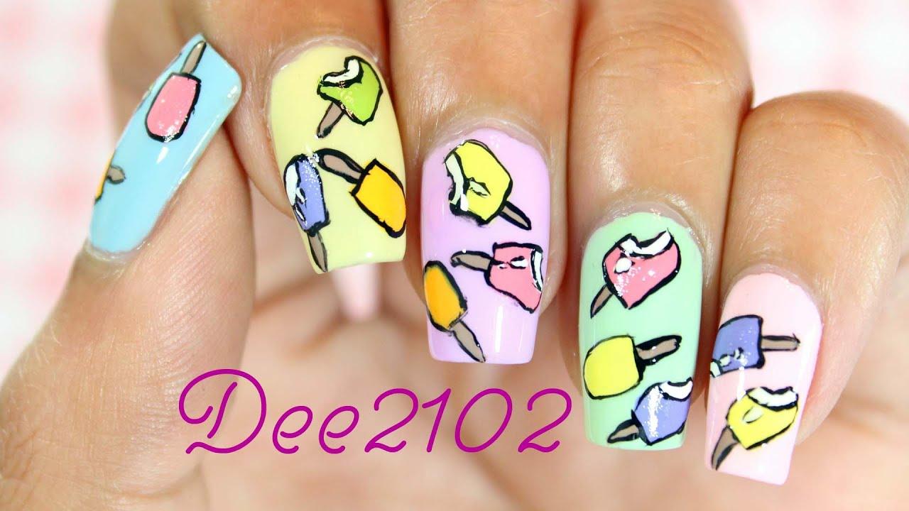summer nails ice cream bar nail