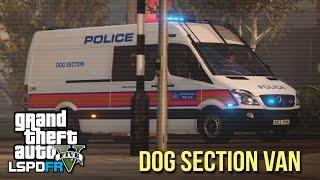 """GTA 5 LSPDFR - Met Police Dogs Van ft. """"Joffrey the Dog"""" - The British way #65"""
