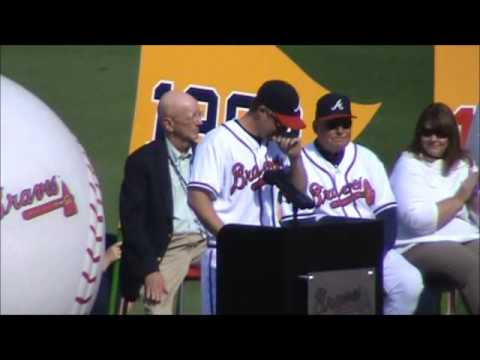 Bobby Cox Atlanta Braves Tribute Ceremony Part 2