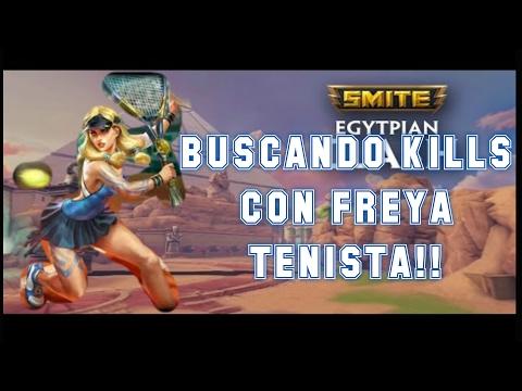 BUSCANDO KILLS CON FREYA TENISTA!! CLASH/DISPUTA | Smite Gameplay 2.0 en español s4