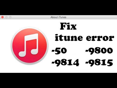 How To Fix iTunes Error 9800,9814,9815, 50, iPod/iPhone/iPad, Feb 2015