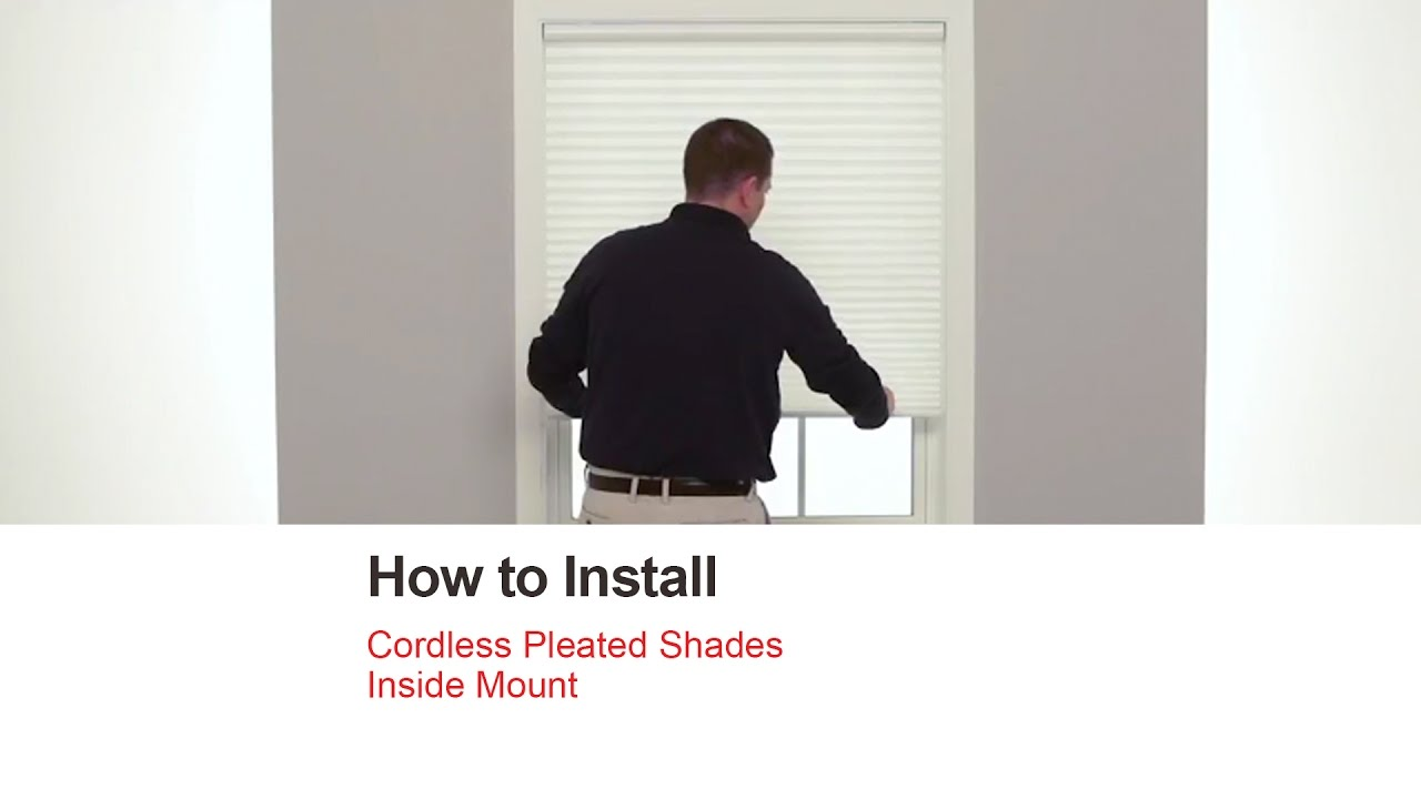bali blinds how to install cordless pleated shades inside mount youtube. Black Bedroom Furniture Sets. Home Design Ideas