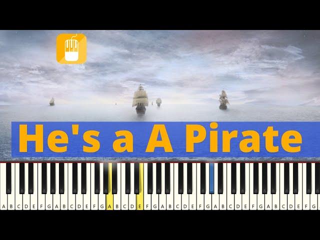 He's a Pirate piano tutorial  Eenvoudig.