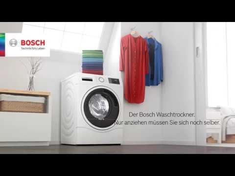 Waschtrockner der serie 6 von bosch. youtube