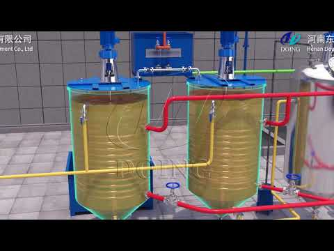 1-10tpd Batch Type Edible Oil Refinery Plant , Small Scale Cooking Oil Refining Machine Video