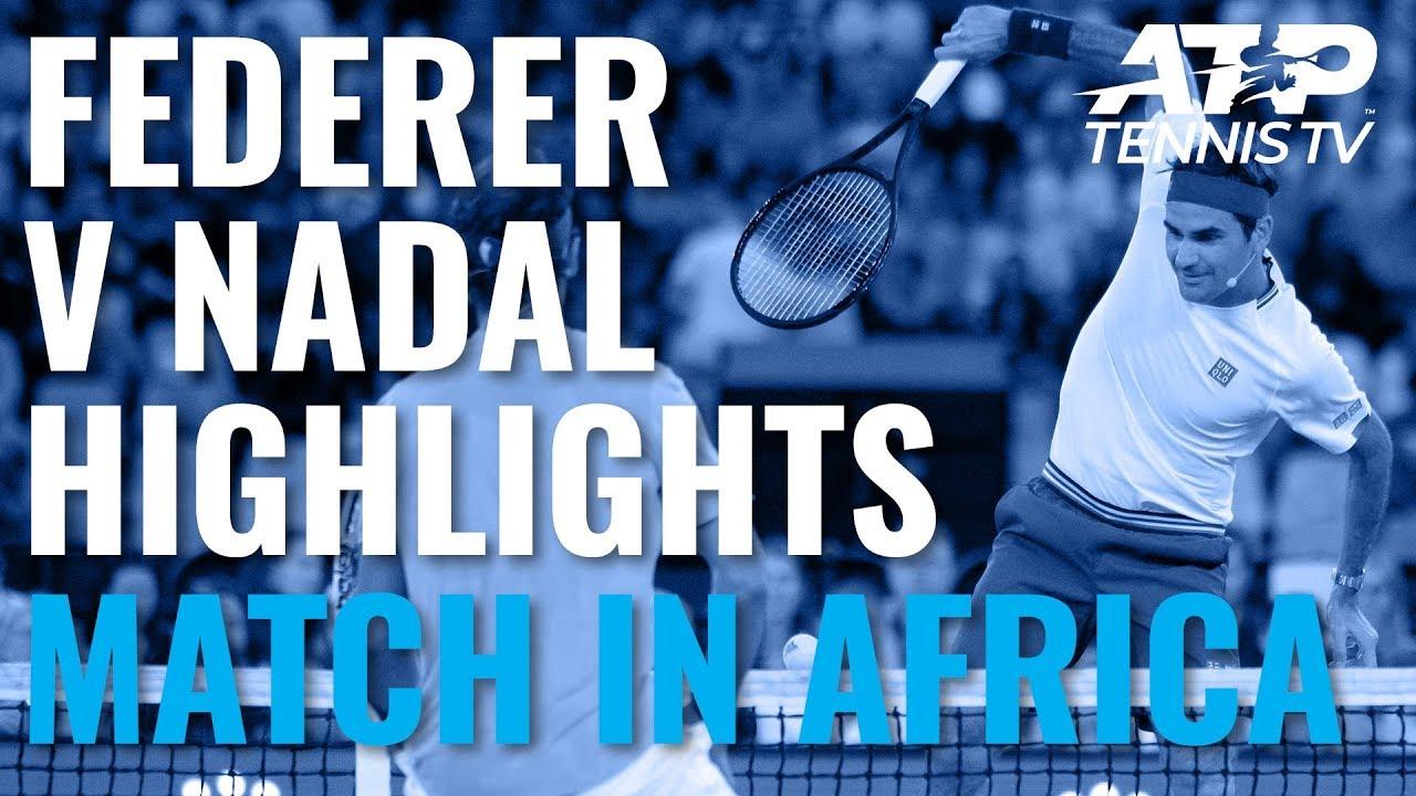 Roger Federer v Rafa Nadal Exhibition Highlights | Match In Africa 2020