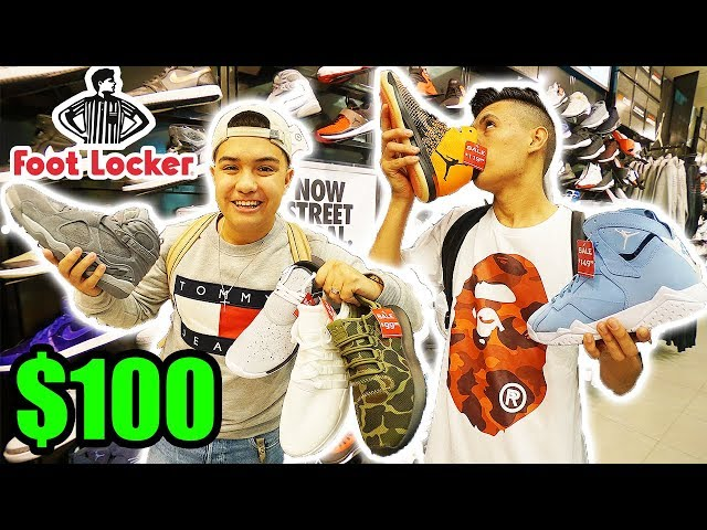 $100 FOOTLOCKER CHALLENGE!! BACK TO SCHOOL FIRE!
