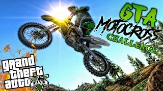 KAWASAKI MOTOCROSS CHALLENGE!! GTA 5 PC MODS