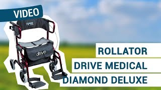 Produktvideo zu 2 in 1 Rollator & Transport-Rollstuhl Drive Medical Diamond Deluxe