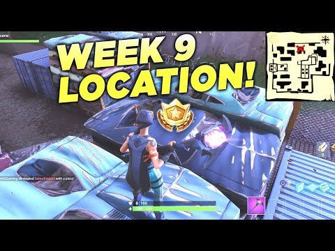 """Fortnite """"Follow The Treasure Map Found In Haunted Hills"""" Location Week 9 Battle Star Challenge!"""
