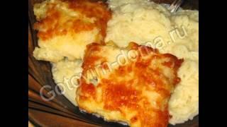 Горячие закуски рыбные:Рыба,жаренная в сыре