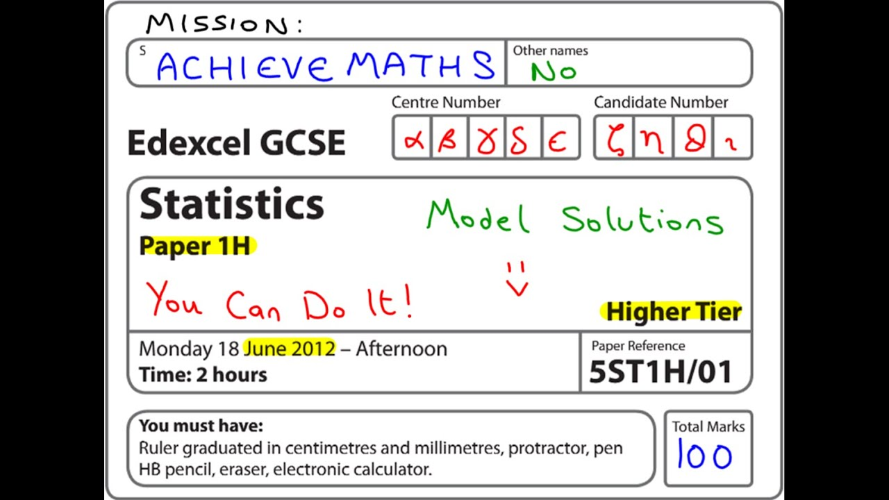 Edexcel gcse maths coursework
