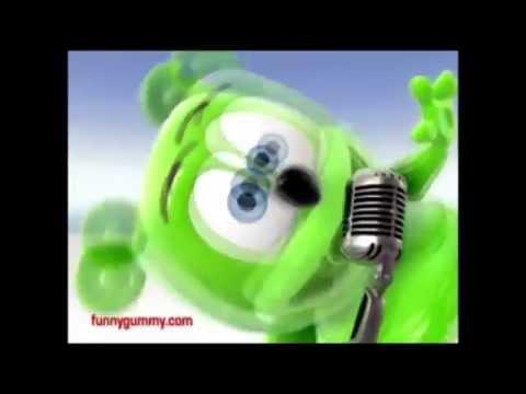 "Gummybear song but every time he says ""GummyBear"" it speeds up"
