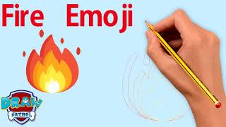 How To Draw Fire Emoji - Easy | Art For Kids Hub