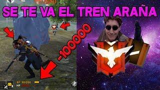 SE TE VA EL TREN ARAÑA!!! OMG!!! HEROICOS!!!RANDOM!!! FREE FIRE REVISA MI CASO #28
