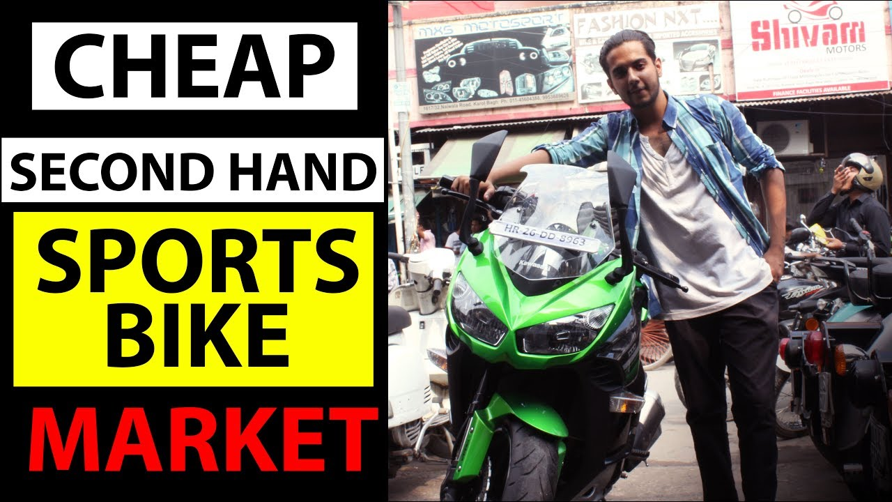 cheap second hand sports bikes market karol bagh delhi india youtube. Black Bedroom Furniture Sets. Home Design Ideas