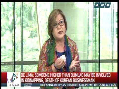 De Lima: Are Aguirre's hands really clean?