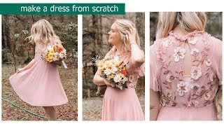 How to make a Dress from Scratch Inspired by Needle and Thread || DUCKINYELLOW