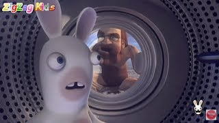 Raving Rabbids Travel in Time | Episode 8 | All Plane Minigames | ZigZag Kids HD