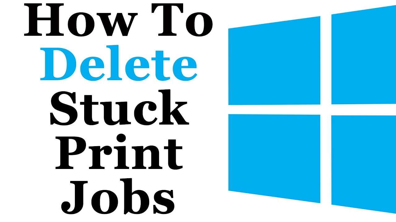 Windows 8 Tutorial  How To Delete Stuck Print Jobs