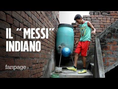 Il 'Messi indiano' ha 12 anni e dribbla la povertà con la forza del suo cuore