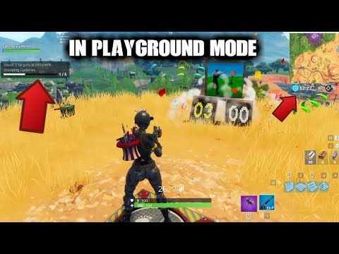 HOW TO DO WEEKLY CHALLENGES IN PLAYGROUND MODE!!! (Fortnite)