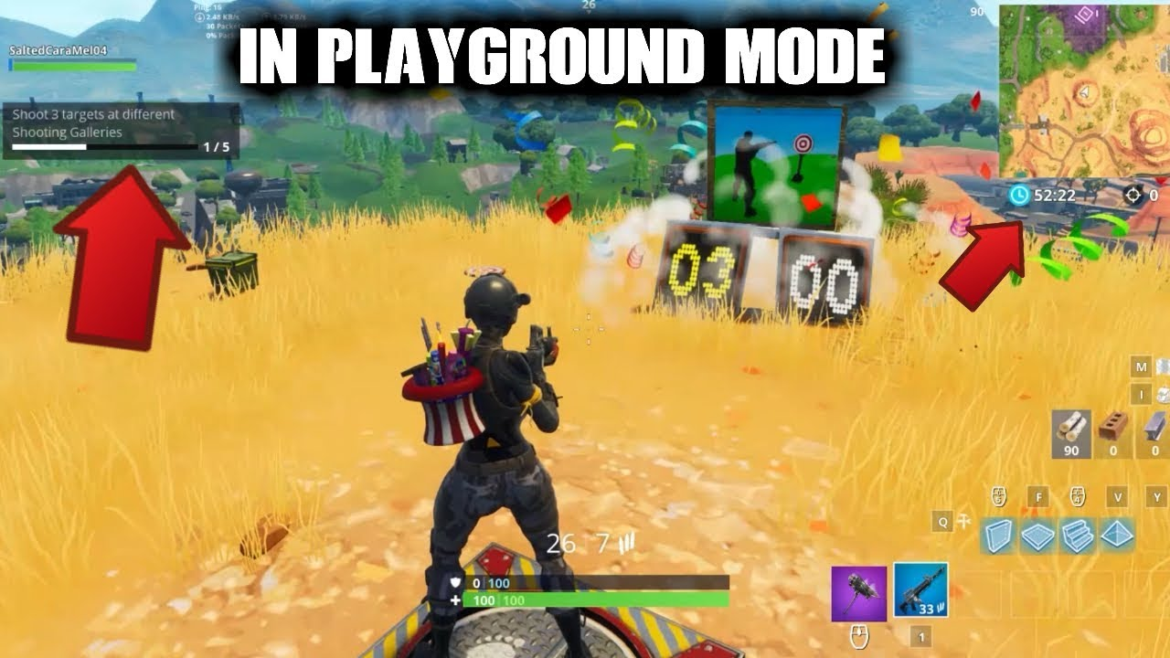 how to do weekly challenges in playground mode fortnite - fortnite challenges playground mode