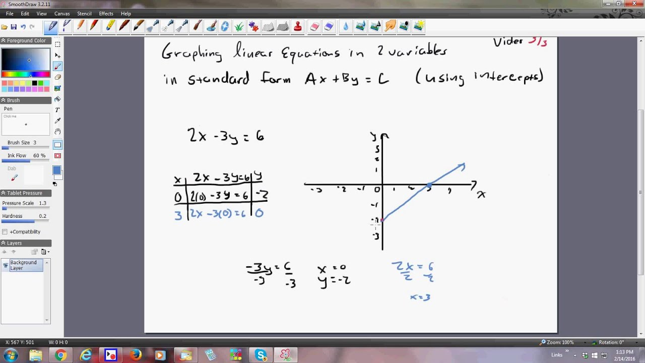 Coordinate plane graphing linear equations in standard form vide 3 coordinate plane graphing linear equations in standard form vide 3 of 3 falaconquin
