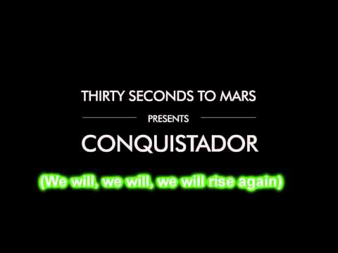 30 Seconds To Mars - Conquistador Karaoke Cover Instrumental