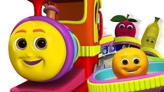 हम्प्टी ट्रैन और उसके फल दोस्त | Humpty Train on a Fruits Ride | Learn Fruit Names