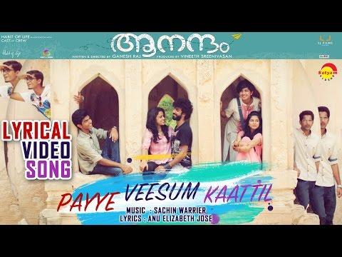 Payye Veeshum Kaatil Lyrical Video Song | Film Aanandam | Sachin Warrier | Anu Elizabeth Jose
