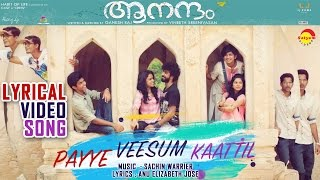 Payye Veeshum Kaatil Lyrical Video Song | Film Aanandam | Sachin Warrier | Anu Elizabeth Jose