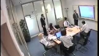 Crazy Office Worker , Beats Guy Up in Board-Meeting