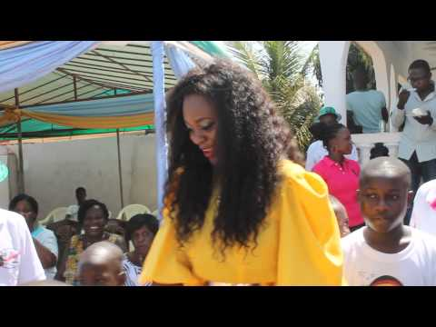 Jackie Appiah Dance To dorobucci On Her Birthday With Less Privileged