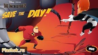 ► Обзор игры Суперсемейка от Flashok ru. Онлайн игра The Incredibles.