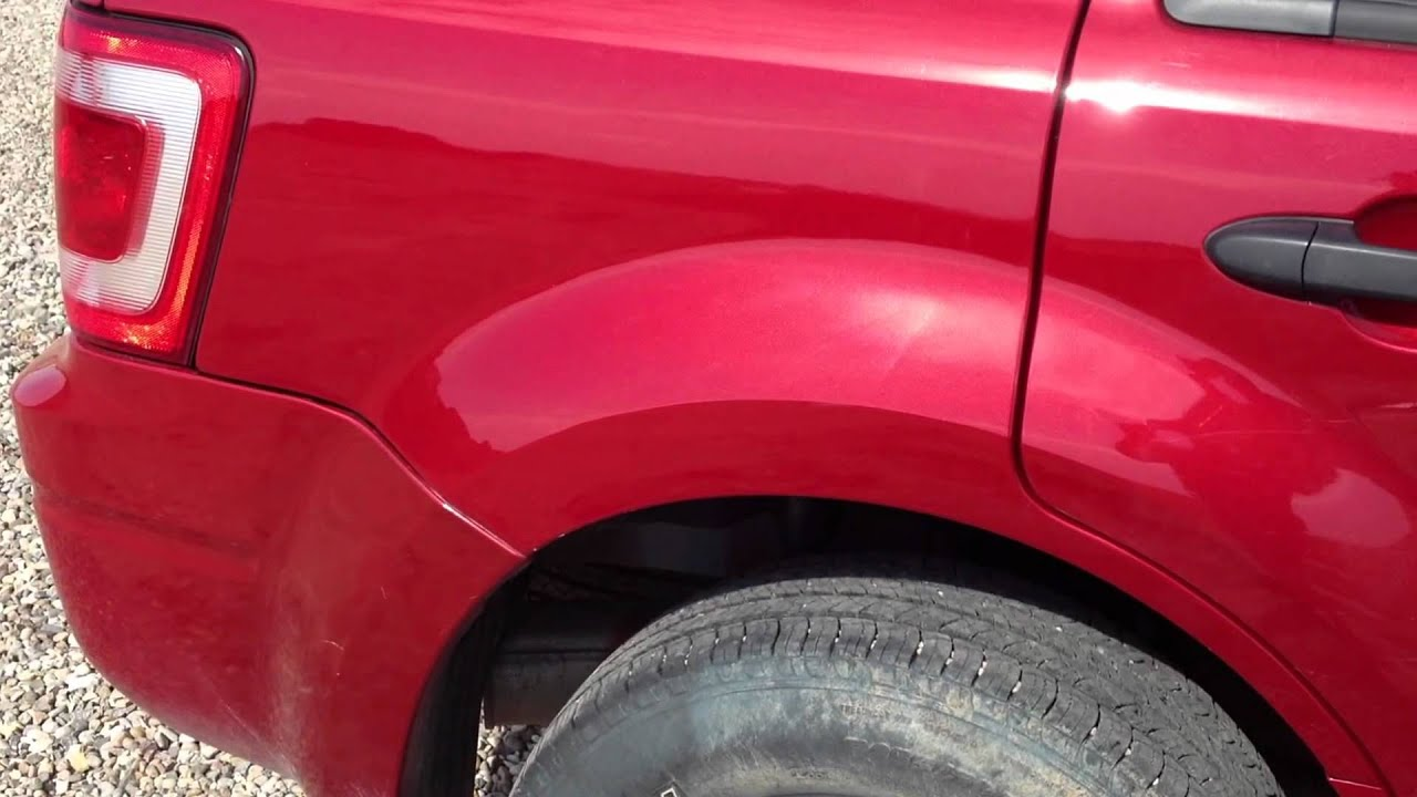 Ford Escape Right Rear Quarter Panel Dent Youtube