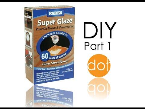 Rust-Oleum Parks Super Glaze, Ultra Glossy Epoxy finish application- diy part 1