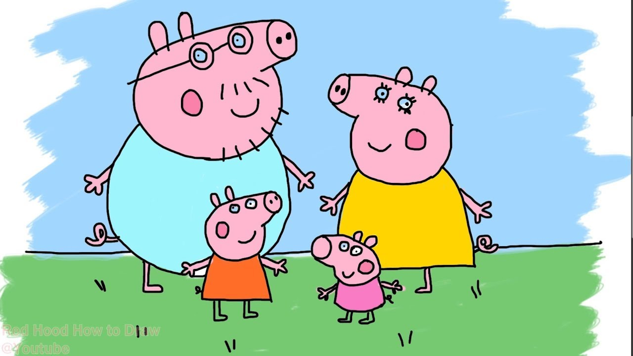 How To Draw , Peppa Pig , Peppa Pig Family Holiday